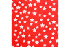 Coupon de tissu en coton imprimé étoiles blanches/fond rouge - 43 x 53 cm - Coupons de tissus – 10doigts.fr