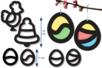 Trames vitrail pré-découpées - Noël et Pâques - Pâques – 10doigts.fr