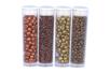 Rocailles Cuivre et Or - 4 tubes - Perles de rocaille - 10doigts.fr