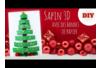 Sapin 3D avec des bandes de papier - Noël – 10doigts.fr