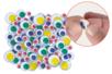Yeux mobiles colorés adhésifs - 48 pièces - Yeux mobiles adhésifs – 10doigts.fr