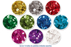 Sequins brillants - Set de 10 boîtes (20000 paillettes) - Sequins - 10doigts.fr