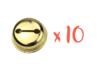 10 grelots dorés ø 3 cm  - Grelots et clochettes 10477 - 10doigts.fr