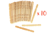 10 sets de 50 bâtonnets en bois naturel - Bâtonnets, tiges, languettes 30093 - 10doigts.fr