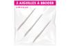 3 aiguilles à broder - Aiguilles - 10doigts.fr