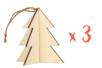 Sapins 3D à suspendre - Lot de 3 - Noël 19869 - 10doigts.fr