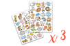 Gommettes animaux rigolos 2 - 3 sets (6 planches) - Gommettes Animaux 18496 - 10doigts.fr