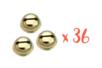 36 grelots dorés Ø 1,8 cm  - Grelots et clochettes - 10doigts.fr