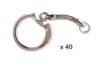 Porte-clefs argentés - Lot de 40 - Porte-clefs, Anneaux, Mousquetons 01974 - 10doigts.fr