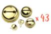 43 grelots dorés ø 1,2 - 1,8 - 2 et 3 cm - Grelots et clochettes 09524 - 10doigts.fr