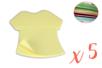 Blocs-notes repositionnables t shirt- Lot de 5 - Blocs notes 12339 - 10doigts.fr