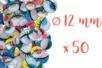 Yeux mobiles colorés avec cils Ø 12 mm - 50 yeux - Yeux mobiles 03894 - 10doigts.fr