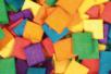 Mosaïques bois couleurs vives - 1 set (500 pcs) - Mosaïques bois 14936 - 10doigts.fr