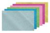 6 plaques adhésives : 1 or + 1 argent + 1 rouge + 1 vert + 1 rose + 1 bleu - Caoutchouc souple auto-adhésif 13115 - 10doigts.fr