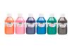 Acryl Brillant 250 ml - set de 6 couleurs complémentaires : orange, rose, violet, bleu outremer, vert foncé, marron - Acryliques scolaire 31103 - 10doigts.fr