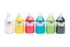 Acryl Brillant 250 ml - set de 6 couleurs de base : blanc, jaune, rouge, bleu clair, vert clair, noir - Acryliques scolaire 31102 - 10doigts.fr