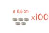 Aimant néodyme ø 6 mm - 100 pièces (20 sets) - Aimants 12459 - 10doigts.fr