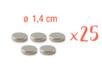 Aimant néodyme ø 14 mm - 25 pièces (5 sets) - Aimants 07446 - 10doigts.fr