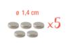 Aimant néodyme ø 14 mm - 5 pièces (1 set) - Aimants - 10doigts.fr
