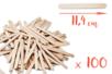 Bâtons d'esquimaux Nature (11,4 cm) - 100 pces - Bâtonnets, tiges, languettes 14924 - 10doigts.fr