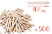 Bâtons d'esquimaux en bois (11,4 cm) - Lot de 500 - Bâtonnets, tiges, languettes - 10doigts.fr