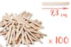 Bâtons d'esquimaux Nature (9,3 cm) - 100 pces - Bâtonnets, tiges, languettes 05144 - 10doigts.fr