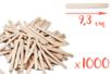 Bâtons d'esquimaux Nature (9,3 cm) - 1000 pces - Bâtonnets, tiges, languettes 04265 - 10doigts.fr
