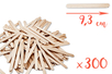 Bâtons d'esquimaux Nature (9,3 cm) - 300 pces - Bâtonnets, tiges, languettes 05021 - 10doigts.fr