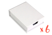 Boîte à notes en carton blanc - Lot de 6 - Boîtes en carton 29057 - 10doigts.fr