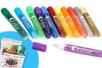 Boite de 50 stylos de peinture pailletée - 12 couleurs  - Colles scolaires 35002 - 10doigts.fr