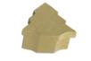 Boîte sapin 10 x 11 cm - H : 5 cm - L'unité - Boîtes en carton 11848 - 10doigts.fr