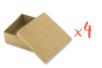 Boîtes carrées 9 x 9 cm - H : 5 cm - Lot de 4 - Boîtes 12129 - 10doigts.fr