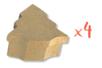 Boîtes sapin 10 x 11 cm - H : 5 cm - Lot de 4 - Boîtes en carton 12076 - 10doigts.fr