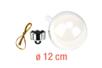 Boule en plastique transparent 3 en 1 : ø 12 cm - Plastique Transparent 13067 - 10doigts.fr