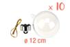 Boules en plastique transparent 3 en 1 : ø 12 cm - Lot de 10 - Transparent 13068 - 10doigts.fr