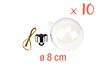 Boules en plastique transparent 3 en 1 : ø 8 cm - Lot de 10 - Transparent - 10doigts.fr