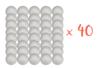 Boules en polystyrène Ø 7 cm -  Lot de 40 - Boules en polystyrène 12682 - 10doigts.fr