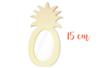 Cadre photo ananas 15 cm - Cadres photos 32056 - 10doigts.fr
