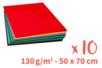 Cartes légères (50 x 70 cm) - 10 couleurs assorties - Papiers Grands Formats 14100 - 10doigts.fr