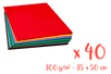 Cartes fortes 35 x 50 cm - Set de 40 cartes - 20 couleurs (2 feuilles par couleur) - Carterie 03159 - 10doigts.fr