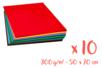 Cartes fortes 50 x 70 cm - Set de 10 cartes - 10 couleurs (1 feuille par couleur) - Carterie 03160 - 10doigts.fr