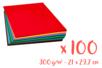 Cartes fortes 300 gr - 21 x 29,7 cm, 25 couleurs - 100 feuilles  - Papiers épais - 10doigts.fr