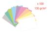 Cartes légères 130 gr (10 couleurs pastel) - 100 feuilles A4 - Kirigami - 10doigts.fr