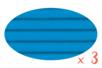 Carton ondulé 50 x 70 cm bleu clair - 3 rouleaux - Carton ondulé 12326 - 10doigts.fr