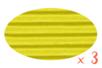 Carton ondulé 50 x 70 cm jaune citron - 3 rouleaux - Carton ondulé 12302 - 10doigts.fr