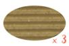 Carton ondulé 50 x 70 cm kraft naturel - 3 rouleaux - Carton ondulé 12250 - 10doigts.fr