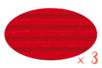 Carton ondulé 50 x 70 cm rouge - 3 rouleaux - Carton ondulé 12317 - 10doigts.fr
