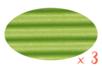 Carton ondulé 50 x 70 cm vert clair - 3 rouleaux - Carton ondulé 12328 - 10doigts.fr