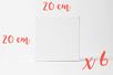 Châssis carrés 20x20cm - Lot de 6 - Châssis 01224 - 10doigts.fr