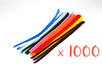 Chenilles ø 6 mm - 30 cm, couleurs assorties - Lot de 10 sets de 100 - Chenilles, cure-pipe 11511 - 10doigts.fr